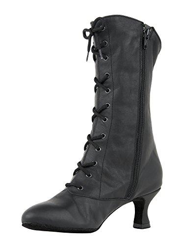 Rumpf ballo stivaletti ballo nero di scarpe carattere stivaletti CanCan 2316 scarpe da stivaletti da carnevale FFTqrZ