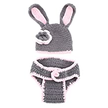 Lookatool Baby Girls Boy Newborn Knit Crochet Minnie Clothes Photo Prop Outfits