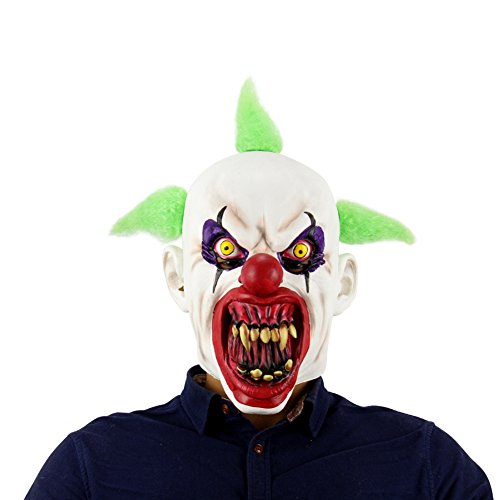 Cheap Clown Mask (PanDaDa Halloween Costume Party Mask Horror of the zombie mask Digital Zombie Mask)