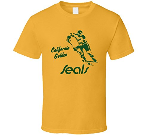 California Golden Seals 1967 Hockey T Shirt 2XL Gold