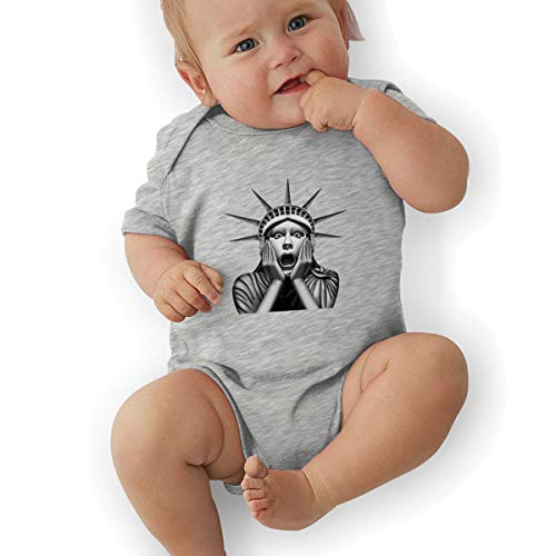 Toddler Baby Boy's Bodysuit Short-Sleeve Onesie Statue of Liberty Print Outfit Spring Pajamas ()