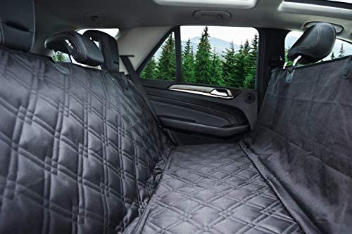 Bulldogology Dog Car Seat Covers 100 Waterproof Hammock Car Seat Cover for Pets – Heavy Duty Scratch Durability, Nonslip Backing, Quilted, Padded, Pet Seat Covers for Cars, Trucks, Vans, and SUVs