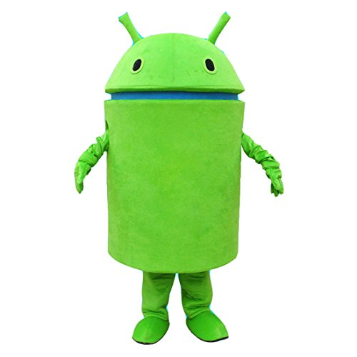 [HYKJ Android Robot Mascot Costume Facny Dress (X-Large, Green)] (Android Costumes)