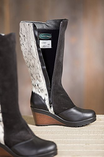 Overland Sheepskin Co Womens Maria Cowhide Gripper-Sole Boots 5fLEVzFnHr