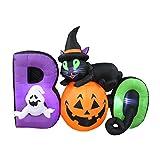 6 Foot Long Lighted Halloween Inflatable Black Cat Ghost Pumpkin BOO Cute Indoor Outdoor Lawn Yard Art Decoration