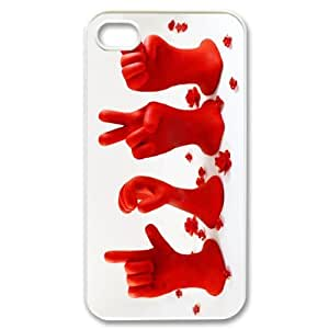 Gdragonhighfive Cute Adorable Fingers Love Paint Case for Apple iPhone 4 4S