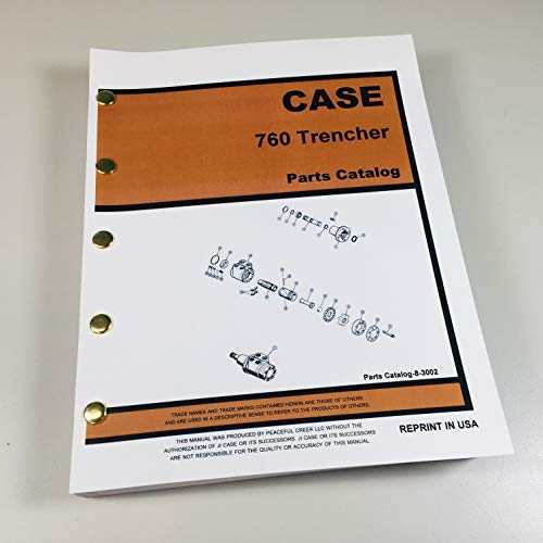 J I Case 760 Trencher Parts Manual Catalog Assembly Exploded Views Plow Blade