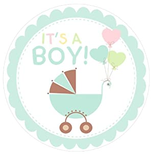 Amazon.com: Baby Shower Welcome {Boy Blue} Edible Cake