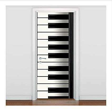 Anfwy Creativo Puerta Mural Teclado de Piano Moderno por ...
