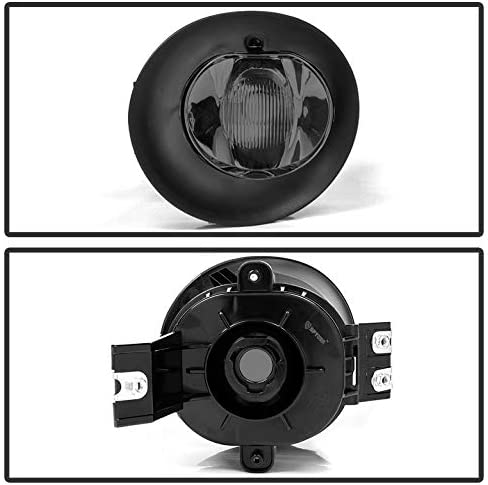 ACANII For Smoked Glass Lens 2002-2008 Dodge Ram 1500 2500 3500 Bumper Fog Lights Lamps Assembly Driver /& Passenger