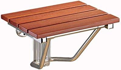 ZJN-JN Dusche-Sitz Wand befestigte Klapp Badezimmer Soild Holz Duschsitz Hocker, 14,9 Zoll X 12.6 Zoll Bad Hocker, Badezimmer Bad Rollstühle