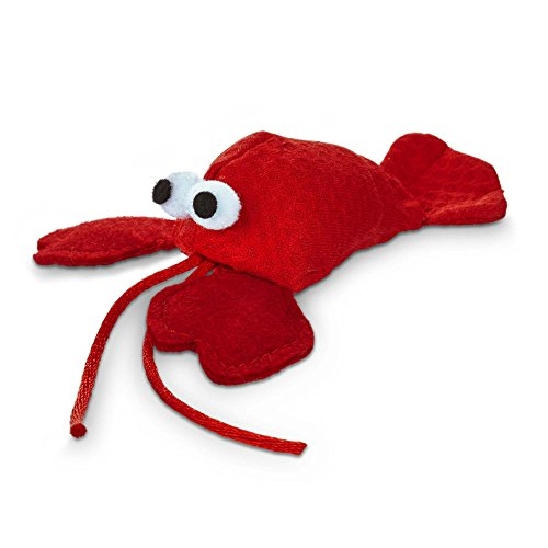 Leaps & Bounds Lobster with Catnip Cat Toy, 4.5″ L X 2″ W, 4 in, Red