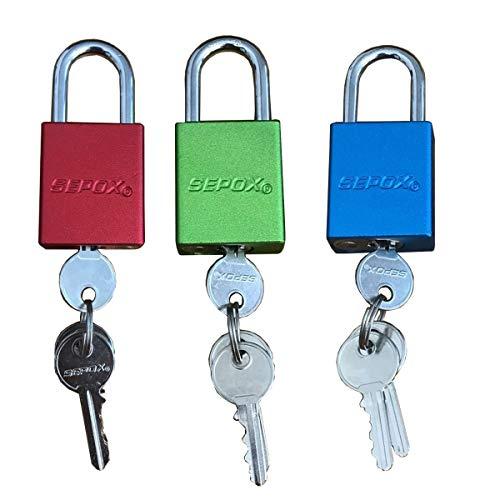 SEPOX Solid Aluminum Safety Padlock Keyed Alike 1-1/2