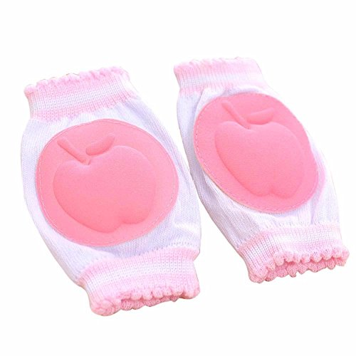 ALOVEMO Baby Crawling Anti-Slip Knee, 2019 Unisex Baby Toddlers Kneepads Safety Knee Pads Protective Gear (Pink)