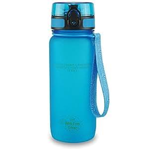 SMARDY Tritan Botella de Agua para Beber Azul - 1000ml - de plástico sin BPA - Tapa de un Clic - fácil de Abrir - ecológica - Reutilizable