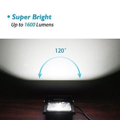 LEPOWER 20W LED Flood Light, Super Bright Outdoor Work Light, 100W Halogen Bulb Equivalent, IP66 Waterproof, 6500K,1600lm, Outdoor Led Lights(Daylight White 2-pack)