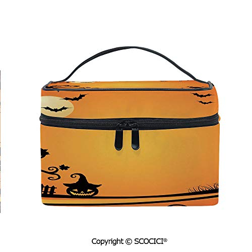 Printed Makeup Bag Organizer toiletry bag Halloween Themed