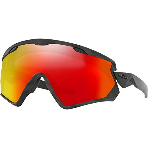 Oakley Wind jacket 2.0 Snow Goggles, Night Camo Frame, Prizm Torch Iridium Lens, - Oakley Lenses Eyeshade