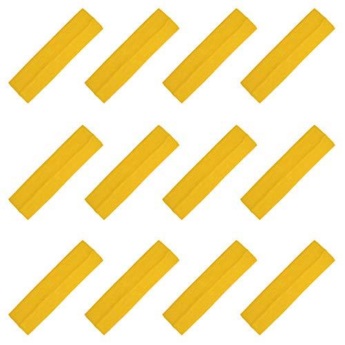 Kenz Laurenz Soft and Stretchy Elastic Cotton Headbands, (Pack of 12) - Sunflower (Yellow Elastic Headband)