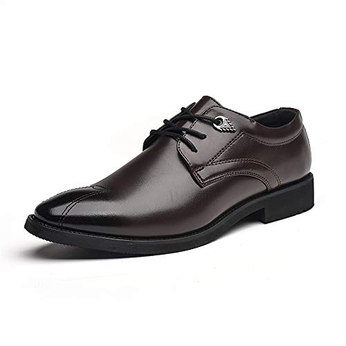 da Britannico Scarpe Cerimonia da Classico Cricket Classico Casual Marrone Men's Stile Scarpe Oxford Business wazxWqnRfP