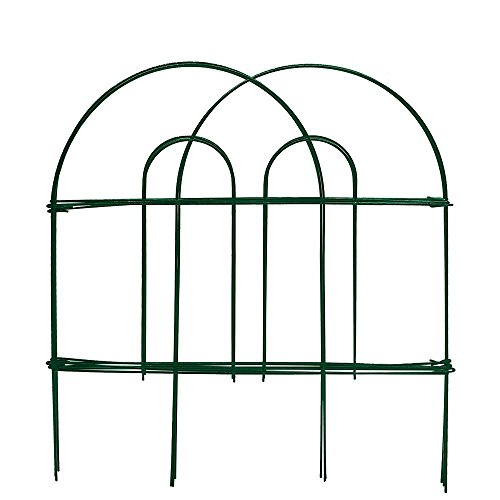 (Amagabeli Decorative Garden Fence 18 in x 50 ft Rustproof Green Iron Landscape Wire Folding Fencing Ornamental Panel Border Edge Section Edging Patio Flower Bed Animal Barrier for Dog Outdoor Fences)