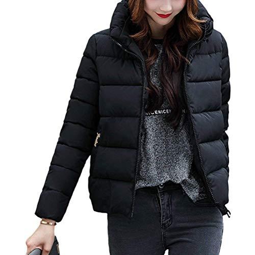 élégante avec Veste noir à à glissière mode femme Lun la coréen col matelassée manches Lun xYqZTwqI