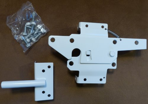 Vinyl Fence Gate Latch (White) by Nationwide Industries