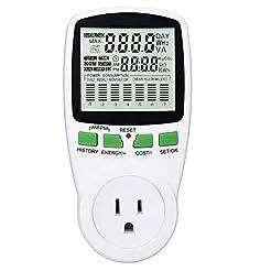 Power Meter US Plug Energy Monitor Power...