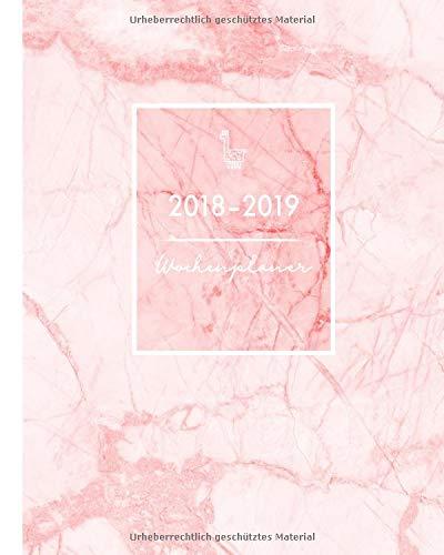 Wochenplaner 2018-2019: Rose Marble Trendy Design,  von August 2018 bis Juli 2019, 20 x 25 cm (clevere Timer und mehr, Band 3)