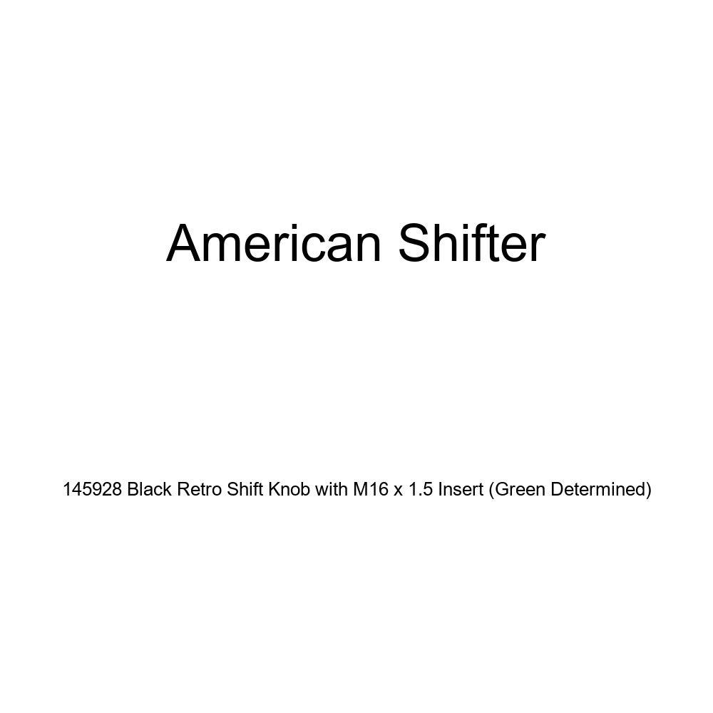 American Shifter 145928 Black Retro Shift Knob with M16 x 1.5 Insert Green Determined
