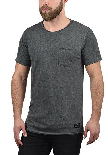 Básica Redondo solid Cuello Grey T Andrej 100 8254 Med shirt Corta Algodón Con De Manga Hombre Para Camiseta rpEwxp7