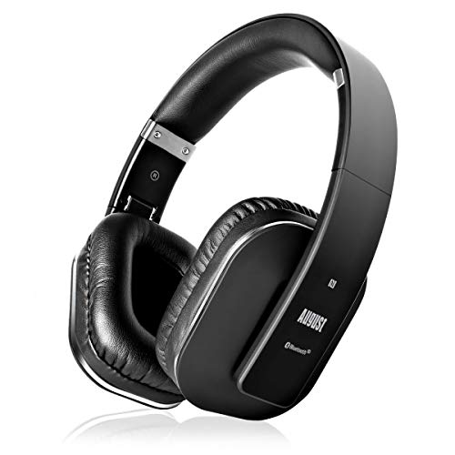 EQ App Over Ear Wireless Headphones - August EP650-Bass Rich Sound and Optimum Comfort - NFC and aptX LL Low Latency - [Black]
