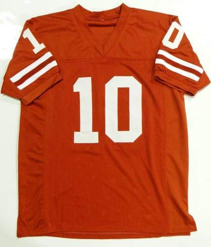 Vince Young Autographed Orange College Style Jersey 05 Nat'l Champs Beckett Auth Beckett Authentication