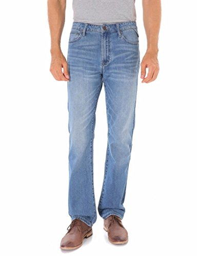 Indigo alpha Classic Straight Fit Men's Stonewash Denim Ligh