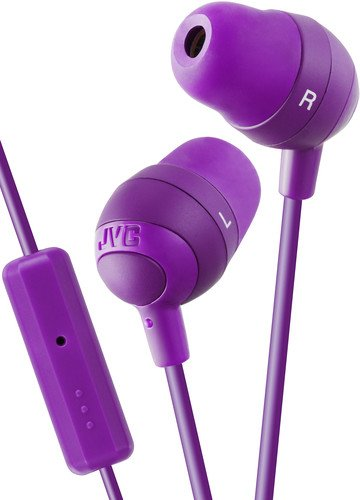 JVC HAFR37V Marshmallow Earbuds with Mic, Violet ()