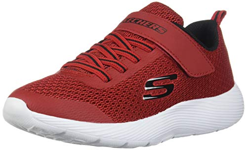 Skechers Kids Boys' DYNA-LITE Sneaker Red/Black 4.5 Medium US Big Kid
