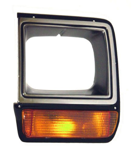 OE Replacement Dodge Pickup/Ramcharger Driver Side Headlight Door, Black with chrome (Partslink Number CH2512135) - Dodge Ramcharger