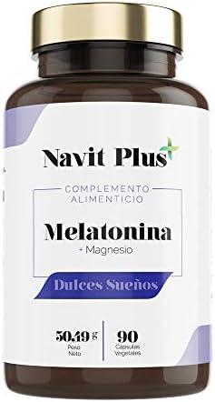 Melatonina + Magnesio + Melisa + Pasiflora + Valeriana + Tila | Combinación 100% natural para dormir mejor | Mejora tu descanso y estado de ánimo | Dulces sueños NAVIT PLUS | Fab Esp | VEGANO.: Amazon.es: Salud y cuidado personal