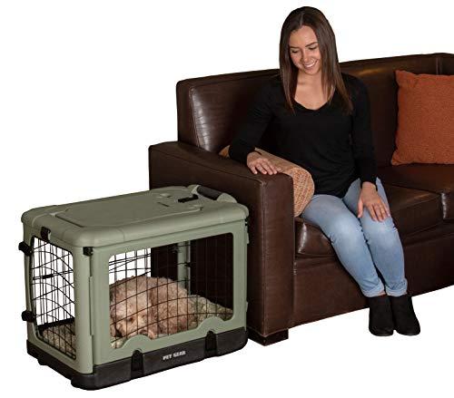 Pet Gear 'The Other Door' 4 Door Steel Crate with Plush Bed + Travel...