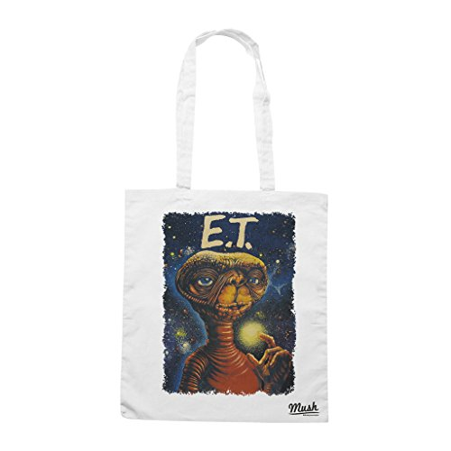 Borsa E.T. L'EXTRATERRESTER POSTER VINTAGE - Bianca - FILM by Mush Dress Your Style