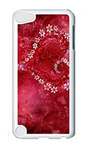 Ipod 5 Case,MOKSHOP Awesome heart flowers hd Hard Case Protective Shell Cell Phone Cover For Ipod 5 - PC White