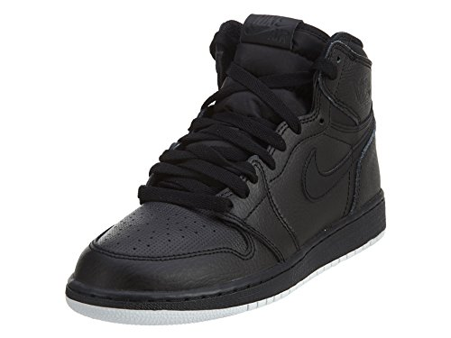 Nike Jordan Men's Air Jordan 1 Retro High OG Black/White Black Basketball Shoes Size 6Y (GS)