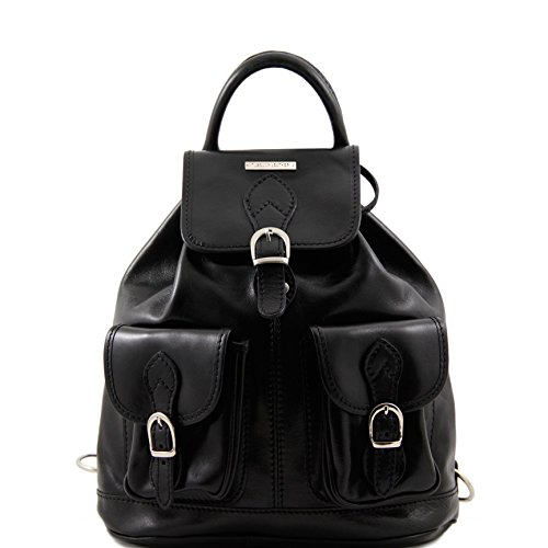 Tuscany Leather Tokyo Leather Backpack Black by Tuscany Leather