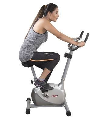 Cardio Max JSB HF73 Magnetic Upright Bike Fitness Exercise Cycle (Silver)