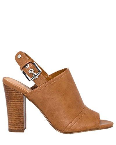 LE CHÂTEAU Peep Toe Sandal Bootie,8,Tan