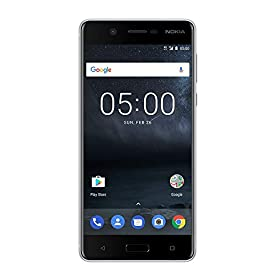 Nokia 5 – Android 9.0 Pie – 16 GB – Single SIM Unlocked Smartphone (AT&T/T-Mobile/MetroPCS/Cricket/Mint) – 5.2″ Screen – Silver