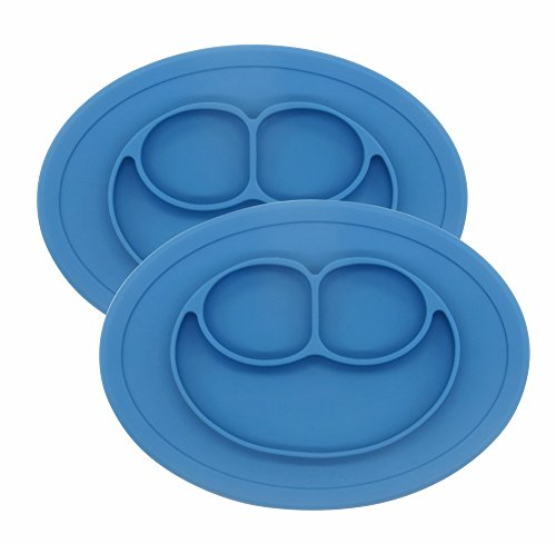 2Packs Silicone Feeding Plate Toddlers