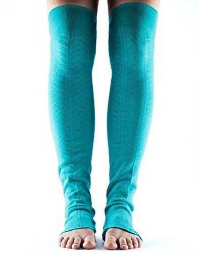 Toesox – Calcetines Talón Abierto Legwarmer para Baile, Yoga, Pilates, Fitness – Fashion Legwarmer