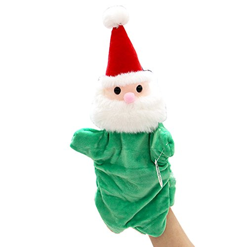 Pettstore Christmas Velvet Knit Finger Doll Set Santa (Red Hat + green clothes Santa) (Overalls Santa Velvet)