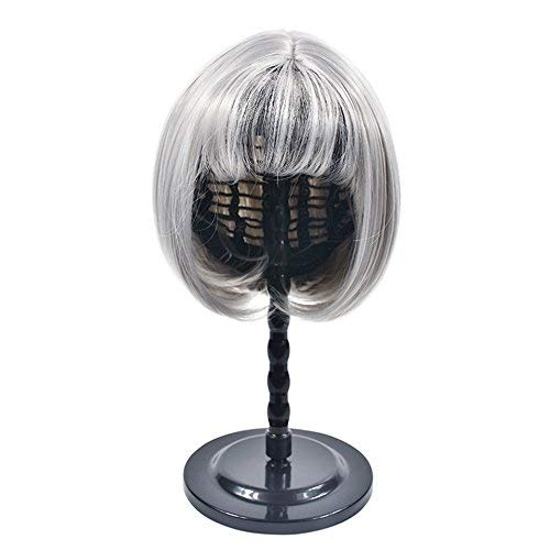 Hot White Wig (ZingSilky Hot Sale Black White Pink Wig Stand,Portable Wig Stand)
